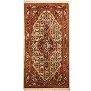 Herat Oriental Indo Hand-knotted Tabriz Wool & Silk Rug (2'5 x 4'7)