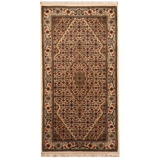 Herat Oriental Indo Hand-knotted Tabriz Wool & Silk Rug (2'6 x 4'7)