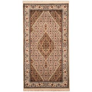 Herat Oriental Indo Hand-knotted Tabriz Wool & Silk Rug (2'5 x 4'6)