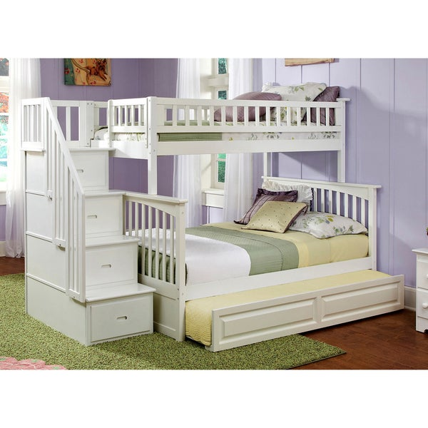 Image Result For Bed Built Over Stair Box: Shop Columbia Staircase Bunk Bed Twin Over Full With
