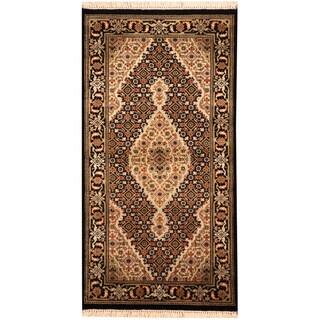 Herat Oriental Indo Hand-knotted Tabriz Wool & Silk Rug (2'5 x 4'8)