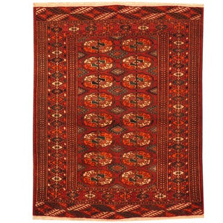 Herat Oriental Afghan Hand-knotted 1920s Antique Turkoman Wool Rug (2'7 x 3'6)