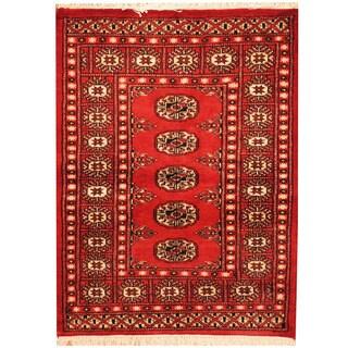 Herat Oriental Pakistani Hand-knotted Bokhara Wool Rug (2'7 x 3'5)
