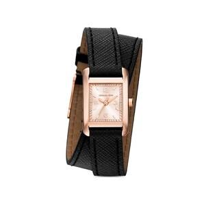 Michael Kors Women's MK2442 Taylor Black Leather Watch