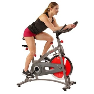 Sunny Health & Fitness SF-B1423C Chain-drive Indoor Cycling Bike - Silver
