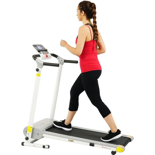 Sunny Health & Fitness SF- T7610 White Easy Assembly Motorized Treadmill
