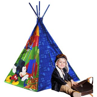 Disney Mickey Mouse Multicolored Cotton/Canvas Play Teepee|https://ak1.ostkcdn.com/images/products/13049332/P19787878.jpg?impolicy=medium