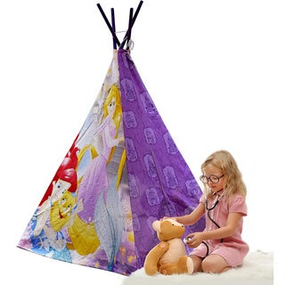 Disney Princesses White/Purple Canvas/Wood Play Teepee