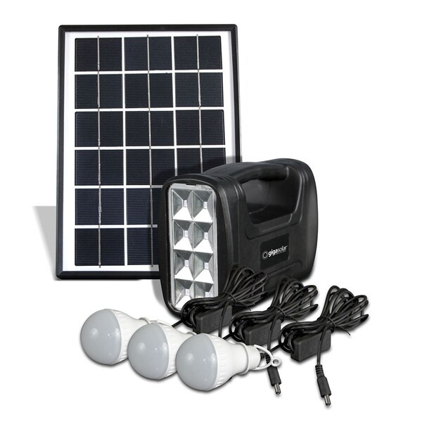 Gigatent Camping String Light/ Flashlight/ USB Port Powered by Solar Panel/ DC 5.5V Adapter