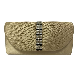 Alfa Gold/Silver Satin Clutch Purse