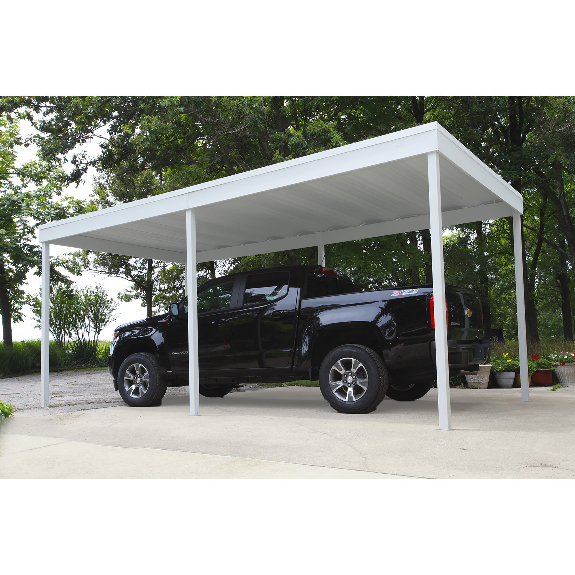 Arrow Group Shed Free Standing Car Port, 10' Wide x 10' L...