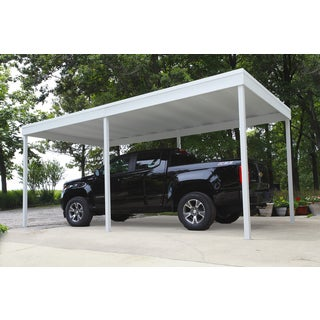 Arrow Shed Free Standing Car Port, 10' Wide x 10' Long Galvanized Steel / CP1010