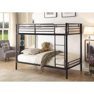 Boltzer Twin over Twin Bunk Bed Black