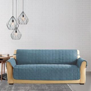 Shop Sure Fit Deluxe Dark Grey Pet Sofa Cover Overstock
