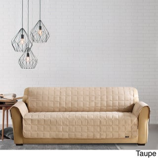 Sure Fit Ultimate Waterproof Quilted Sofa Furniture Protector (Option: Tan)