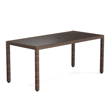 Havenside Home Stillwater Brown Indoor/Outdoor Rectangle Dining Table