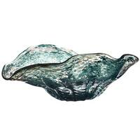 Teal Handmade Glass Bowl