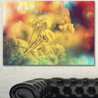 Light Little Yellow Flowers Background - Large Flower Wall Artwork