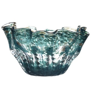 Teal/Gold Glass Bowl
