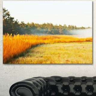 Amazing Yellow Mountain Meadow - Extra Large Landscape Canvas Art