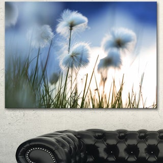 Beautiful Polar White Flowers - Floral Artwork on Canvas
