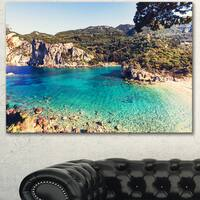 Rocky Beach with Turquoise Water - Beach Canvas Wall Art