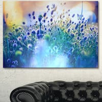 Blue Summer Flowers on Meadow - Floral Artwork on Canvas