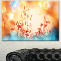 Beautiful Little Summer Flowers View - Floral Artwork on Canvas - YELLOW