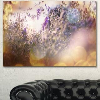 Summer Pasture with Purple Flowers - Extra Large Landscape Canvas Art