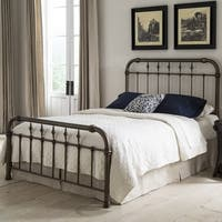 Fashion Bed Group Vienna Metal Bed in Aged Gold Finish