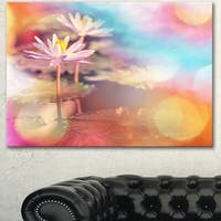 Lotus on Abstract Background - Floral Artwork on Canvas
