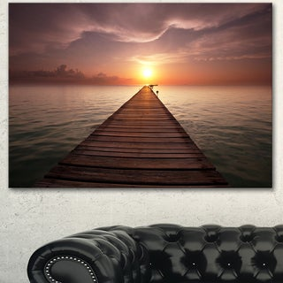 Seashore Boardwalk into the Sun - Large Seashore Canvas Art