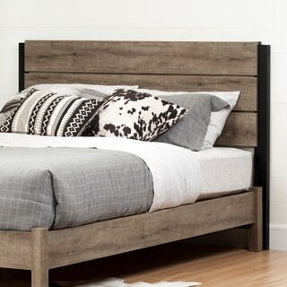 South Shore Munich Full/Queen Headboard (54/60-inch), Weathered Oak