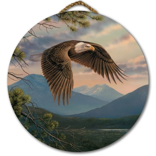 WGI Gallery 'Majestic Moment' Multicolored Wood Round Wall Art