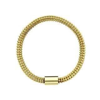 Isla Simone - 18 Karat Gold Electro Plated Flexible Bead Chain Tube Bracelet
