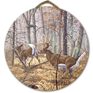 WGI Gallery Autumn Pursuit Birchwood Round Wall Art