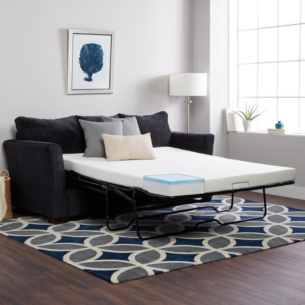 Select Luxury Twin Size Sleeper Sofa Replacement Gel Memory Foam Mattress ( Mattress Only)