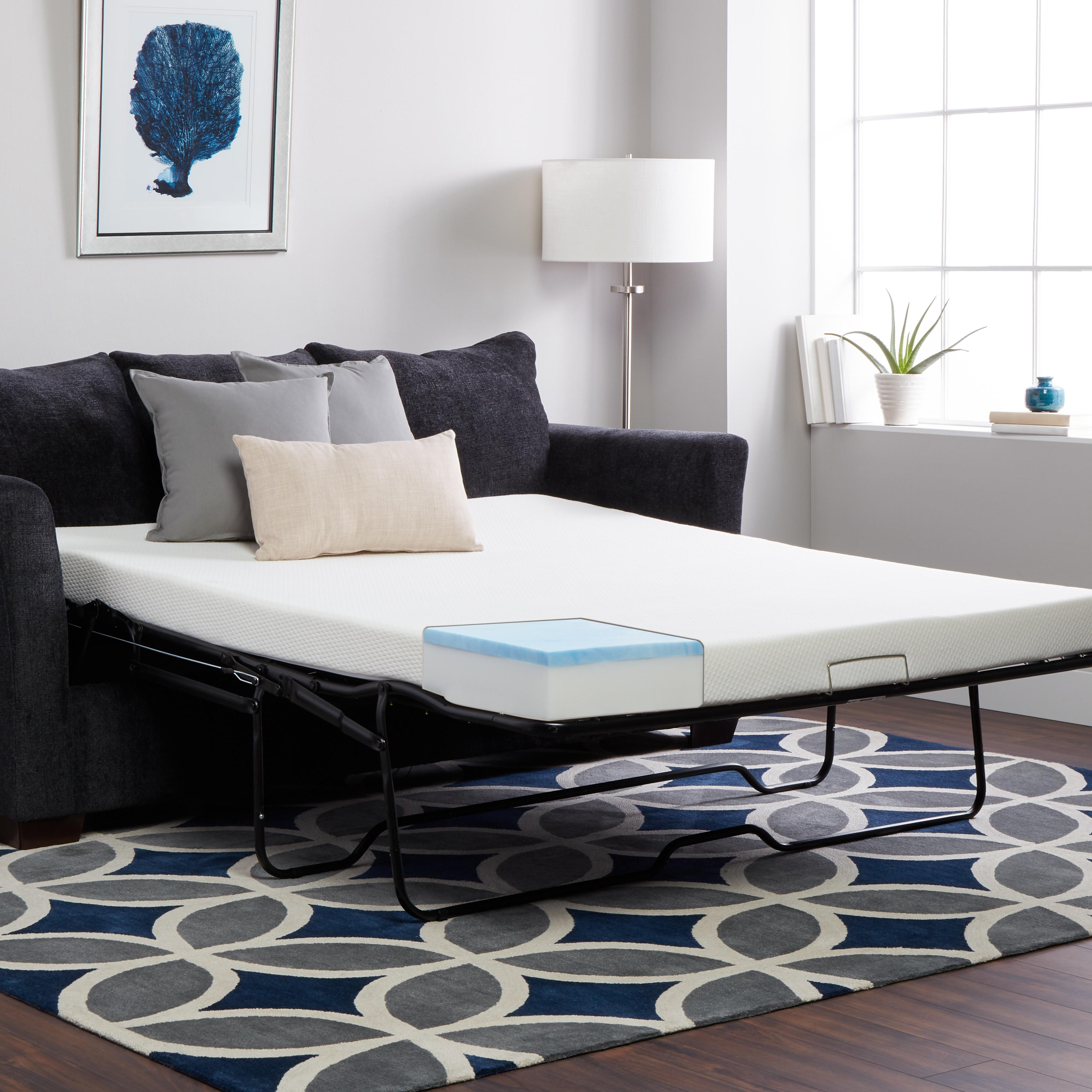 Select Luxury Full-Size Sleeper Sofa Gel Memory Foam Matt...