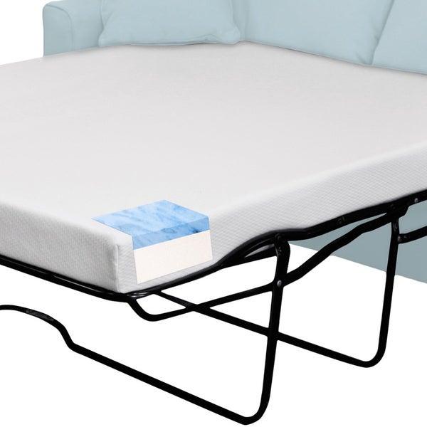 select luxury fullsize sleeper sofa gel memory foam mattress mattress only free shipping today