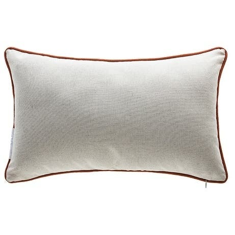 Cotton Thanksgiving Lumbar Pillow with Down/Feather Insert