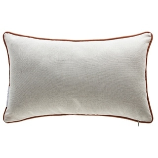 Thanksgiving Multicolored Organic Cotton Cover and Down/Feather Fill Lumbar Pillow