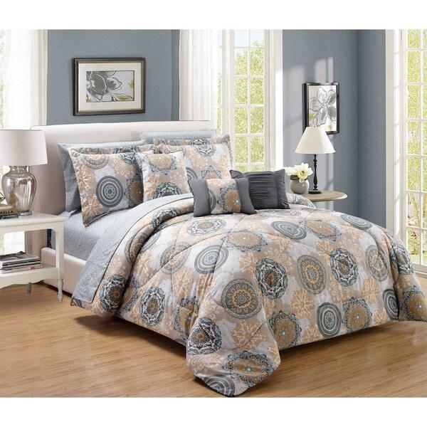 10-Piece Gramercy Comforter and Sheet Set