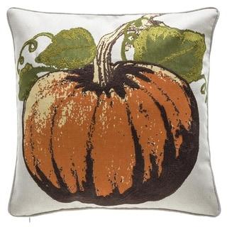 Fall Pumpkin Cotton Square Throw Pillow