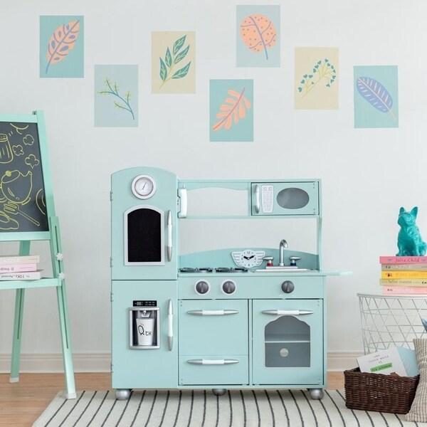 Shop Teamson Kids Little Chef Retro Play Kitchen Mint