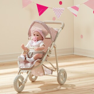 Teamson Olivia's Little World Pink and Grey Polka Dots Princess Baby Doll Jogging Stroller|https://ak1.ostkcdn.com/images/products/13050656/P19789068.jpg?_ostk_perf_=percv&impolicy=medium