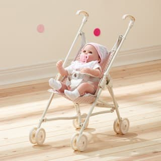 Teamson Kids' Olivia's Little World Pink and Grey Polka Dots Princess Baby Doll Stroller|https://ak1.ostkcdn.com/images/products/13050661/P19789065.jpg?impolicy=medium