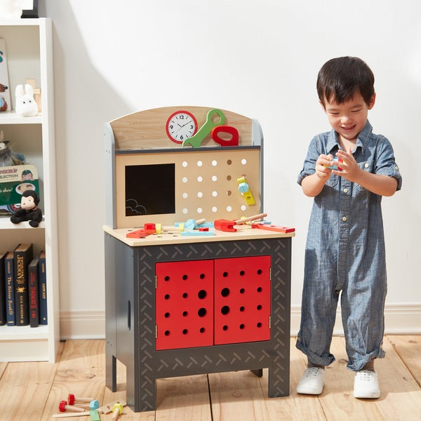 Teamson Kids 'Little Engineer' Multicolored Wood Foldable Workbench