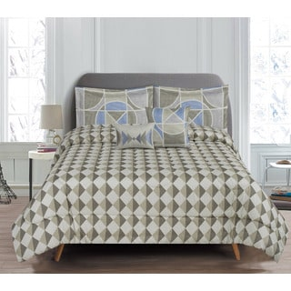 5-Piece Reversible Indigo Comforter Set