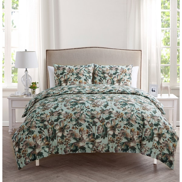 VCNY Daria Floral 3-piece Duvet Cover Set