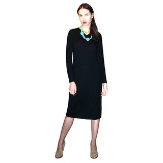 Dolores Piscotta Cashmere Vee Dress